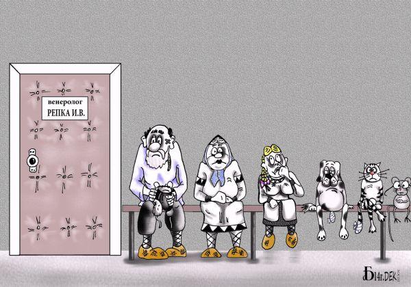 Карикатура: У Репки., БАД