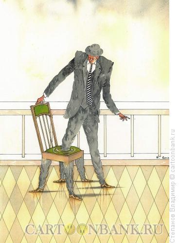 Карикатура: Увяз в стуле, Степанов Владимир