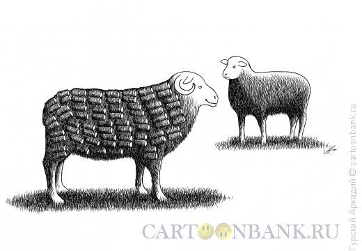 Карикатура: баран с укладкой волос, Гурский Аркадий