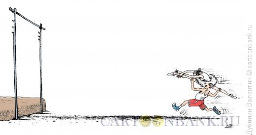 Карикатура: Балет и спорт едины, Дубинин Валентин