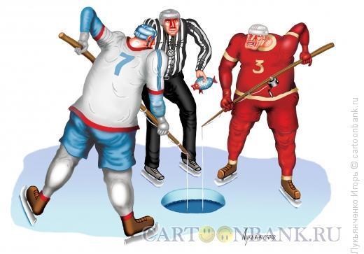 Карикатура: Хоккей, Лукьянченко Игорь