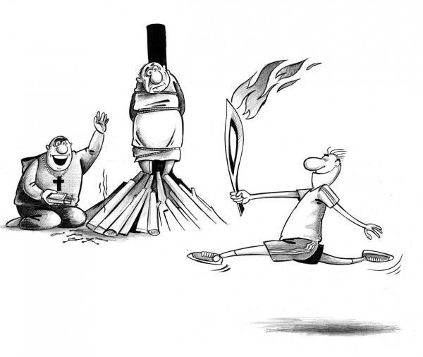 Карикатура: Факел, Сергей Корсун