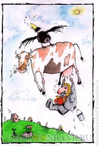 Карикатура: Летим!, Наместников Юрий