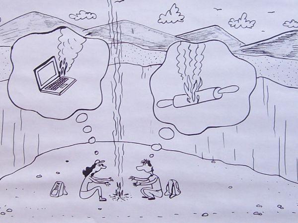 Карикатура: Муж и жена, Петров Александр