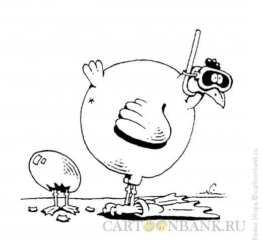 Карикатура: Любовь к плаванию, Кийко Игорь