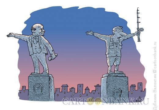 Карикатура: Памятник рыбаку, Дубинин Валентин