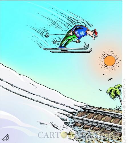 Карикатура: Весна, Дубинин Валентин