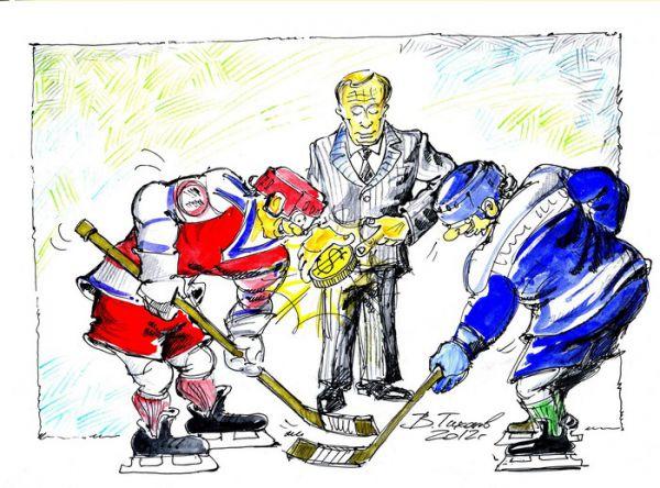 Карикатура: золотая шайба, Владимир Тихонов