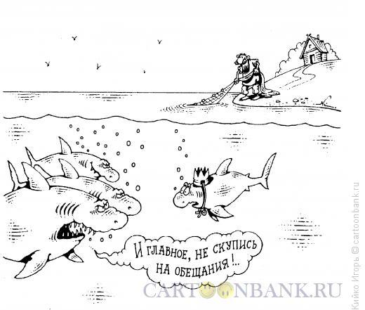 Карикатура: Акулья подстава, Кийко Игорь