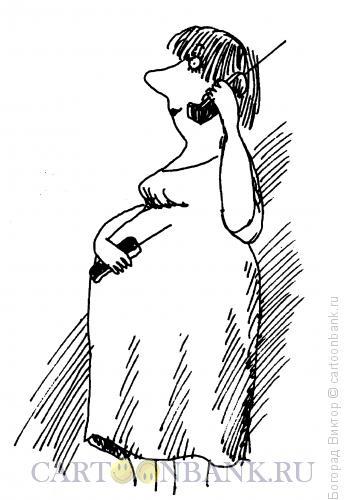 Карикатура: Разговор с животом, Богорад Виктор