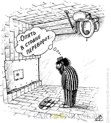 Карикатура: Переворот, Дубинин Валентин