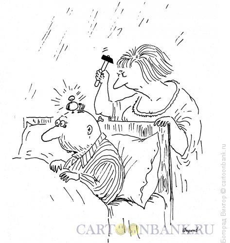 Карикатура: Будильник в голове, Богорад Виктор