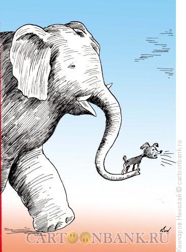 Карикатура: На службе, Кинчаров Николай