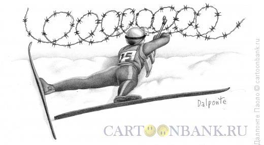 Карикатура: биатлон, Далпонте Паоло