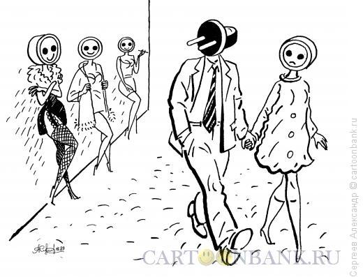 Карикатура: Визуальный контакт, Сергеев Александр