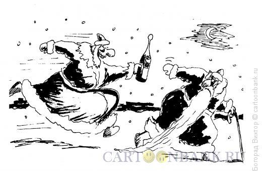 Карикатура: Эстафета, Богорад Виктор
