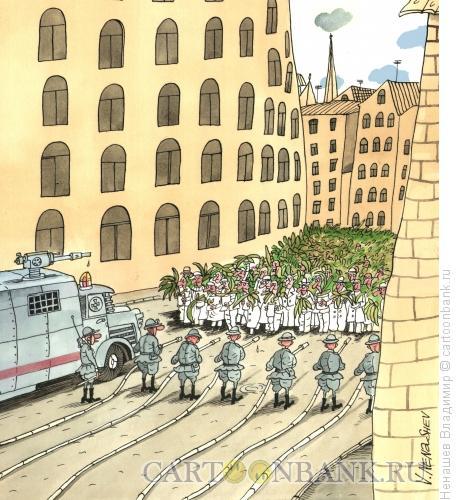 Карикатура: Демонстрация (цвет), Ненашев Владимир