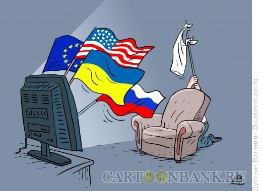 Карикатура: Флаги, Дубинин Валентин
