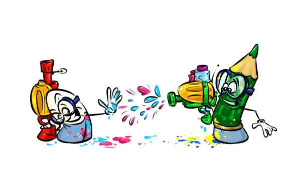 Карикатура: Арт война