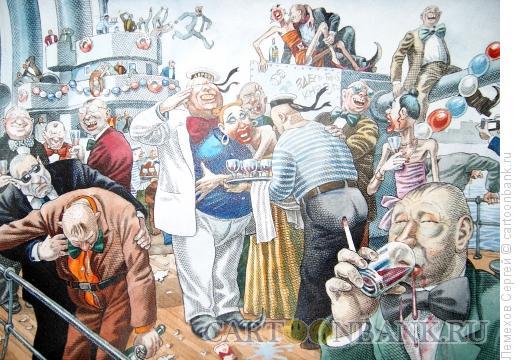 Карикатура: История России. Банкет на Авроре, Лемехов Сергей