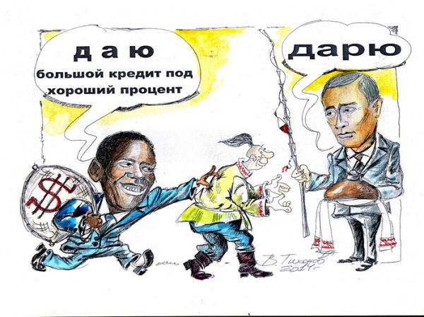 Карикатура: Друзья познаются в беде, Владимир Тихонов