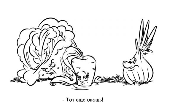 Карикатура: Тот еще овощь!, Эфен Гайдэ