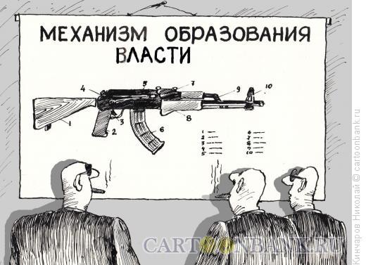 Карикатура: Власть и оружие, Кинчаров Николай