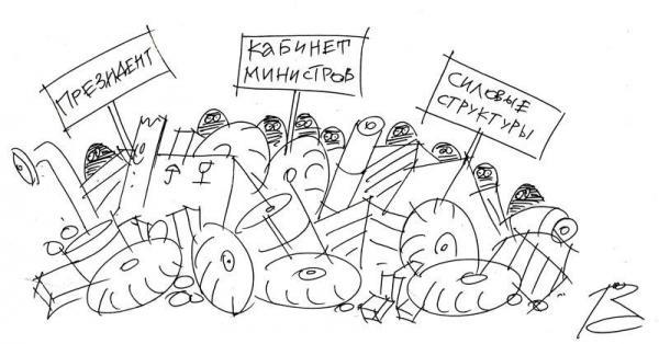 """Карикатура: """"Легитимное правительство"""" Украины, Репьёв Сергей"""