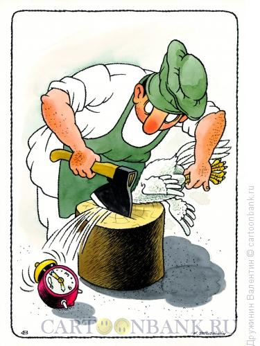 Карикатура: Будильник, Дружинин Валентин