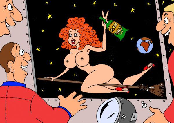 Карикатура: Гостья не с пустыми руками, Валерий Каненков