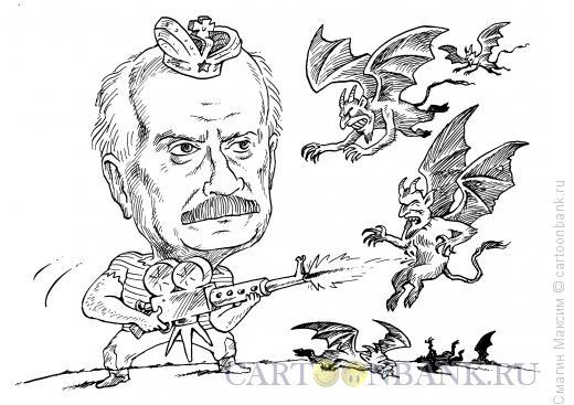 Карикатура: Никита Михалков - бесогон, Смагин Максим