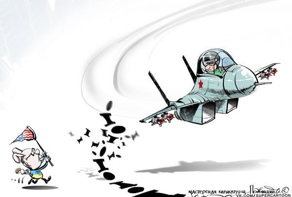 Карикатура: Моська, Подвицкий Виталий