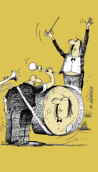 Карикатура: барабан, михаил ларичев