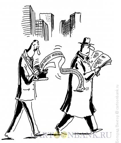 Карикатура: Пресса и карман читателя, Богорад Виктор
