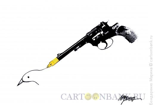 Карикатура: Револьвер и Перо, Бондаренко Марина