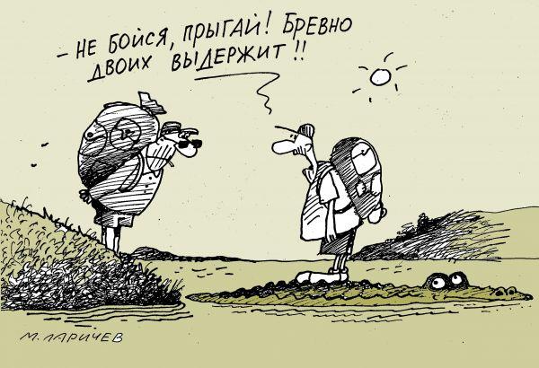 Карикатура: бревно, михаил ларичев
