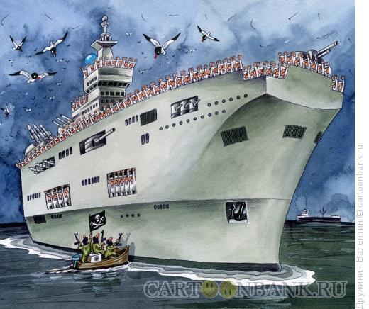 Карикатура: Пираты, Дружинин Валентин