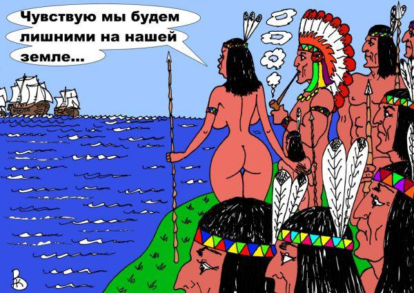 Карикатура: Недоброе предчувствие, Валерий Каненков