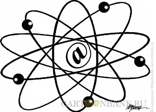 Карикатура: Атом - собака, Бондаренко Марина