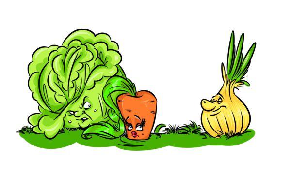 Карикатура: Овощи