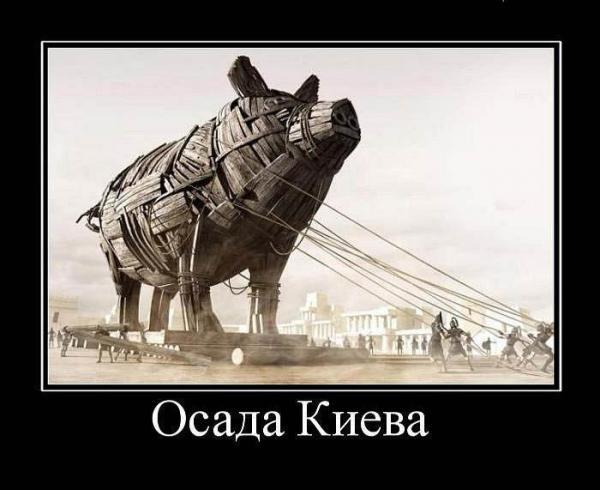 Карикатура: Осада Киева, Петро Стаценко