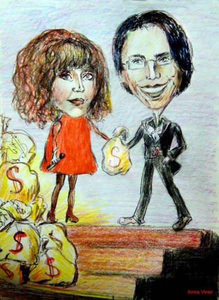 Карикатура: Пугачева и Галкин, viner