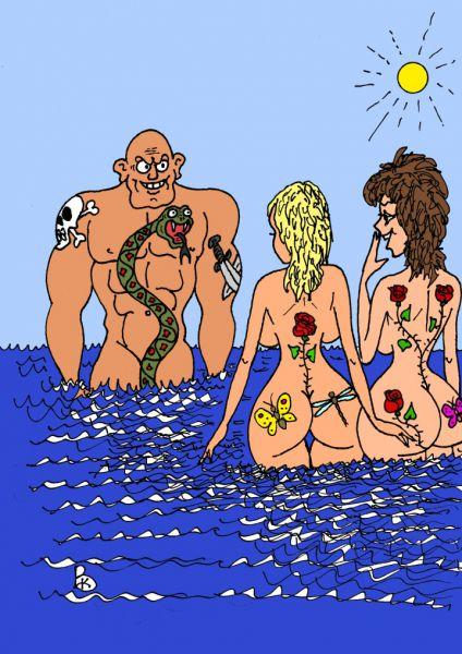 Карикатура: Тату 3d, Валерий Каненков