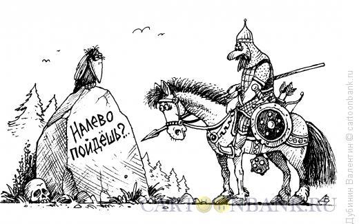 Карикатура: Указательный камень, Дубинин Валентин