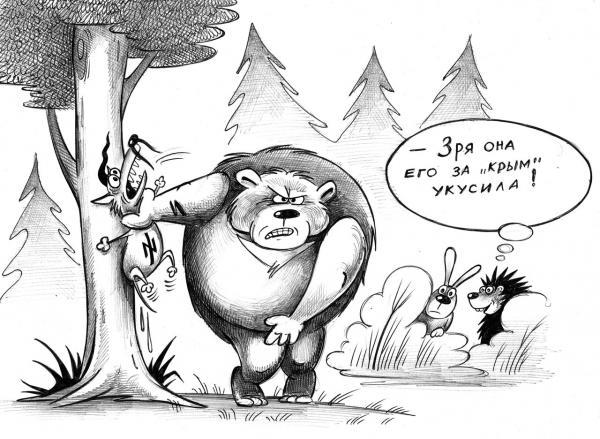 Карикатура: В лесу, Сергей Корсун