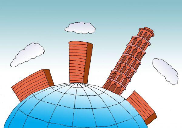 Карикатура: На нашей Земле, Николай Кинчаров