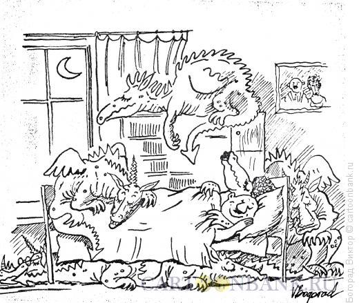 Карикатура: Родственники жены понаехали, Богорад Виктор