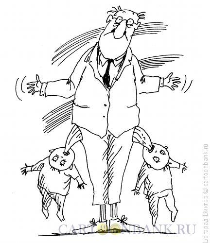 Карикатура: Дети и отцы, Богорад Виктор