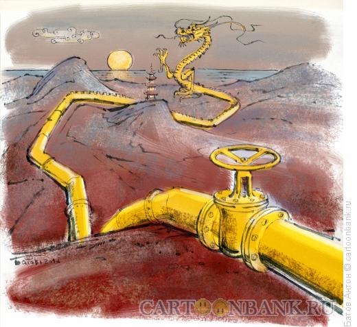 Карикатура: жёлтый дракон, Батов Антон