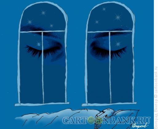 Карикатура: Спящая ночь, Богорад Виктор
